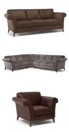 Sofa w stylu vintage i wspaniały komfort z podłokietnikami w kształcie płatków, sprawią że każda chwila będzie wyjątkowa. #furniture #interiordesign #sofa #natuzzi #home #meble #kanapy #armchair #sofas #cornersofa Sofas, Upholstery, Couch, Furniture, Vintage, Home Decor, Couches, Tapestries, Settee