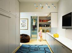 Tribeca Familie Loft Projekten, Bunte, Fröhliche Stimmung Wohnzimmer Ein  Kompakter Raum, Der Mit