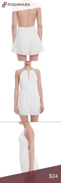 Lush cream Romper Low back, cute keyhole in front. Lush Other