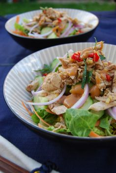 salade asiatique poulet - asian chicken salad
