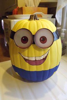 Minion Pumpkin #minion #minions #halloween #craft #pumpkin