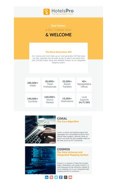 Responsive Welcome Email Design #B2B #Travel #Hotel #Welcome #Hello #Company #Newsletter #Email #Ui #Responsive #Modern #Agency #Html