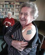 Not your grandma's knitting tattoo. Unless it is.