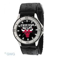 Chicago Bulls Game Time NBA Veteran Black Nylon Men's Watch