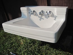 Rare S Bathroom Sink From American Standard S S - Vintage wall mount bathroom sink for bathroom decor ideas