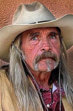 Cowboy by Dave Mills on Fine Art America Real Cowboys, Cowboys And Indians, Face Men, Male Face, Eric Lafforgue, Old Faces, Cowboy And Cowgirl, Mountain Man, Interesting Faces