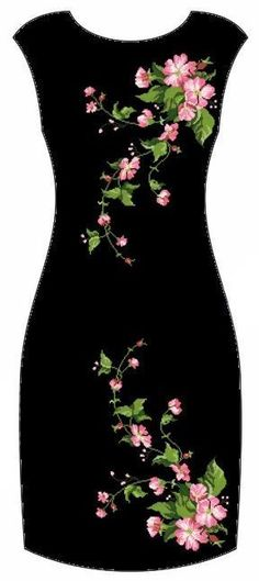 New embroidery patterns dress robes Ideas Embroidery Suits, Embroidery Fashion, Kurti Embroidery, Embroidery Patterns, Machine Embroidery, Pretty Dresses, Beautiful Dresses, Painted Clothes, Outfit Trends