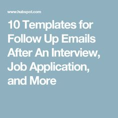 Free Sample JobSeeker FollowUp Letter After Job Interview And