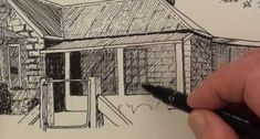 Free Pen & Ink Lesson - How to Draw a Farmhouse in Pen and Ink — Online Art Lessons