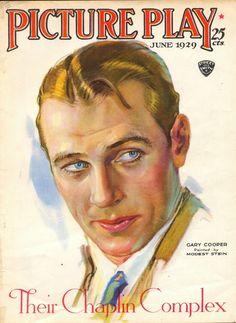 "Gary Cooper ~ ""Picture Play"" magazine, June 1929..."