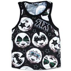 Six Bunnies Rock Star Pandas Kid's Tank