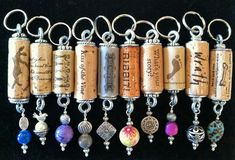 Wine cork keychains easy and fairly inexpensive if you have lots of amazing girlfriends!