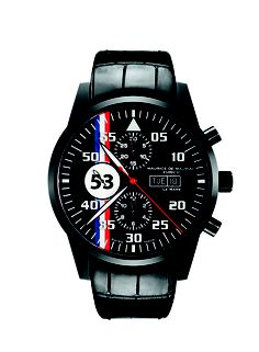 http://mauricedemauriac.ch -   Le Mans Racing in black.  Very Cool Watch.