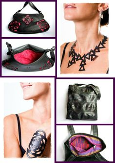 Recycled Inner Tube Creations  by Morgana Crea, every creation is totally Handmade in Italy https://www.facebook.com/morgana.crea1