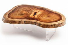 meubles bois brut - table basse Rotsen