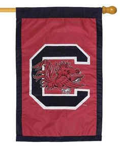 University Of South Carolina Gamecocks Applique House Flag