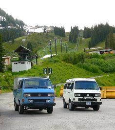 Good combination wrong color - VW Doka T3 Pick-up with Westfalia camper