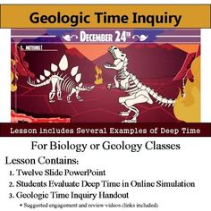 Geologic Timeline Web Inquiry - Deep Time SimulationInterested in an entire Earth History unit?  Save money and check out this lesson bundled with others plus an assessment here: Earth History Bundle==========================================================Want a FULL YEAR of biology lessons, labs and activities?