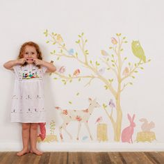 Your little one will feel at one with nature surrounded by this wonderfully, whimsical woodland scene. All our lovely stickers are made of adhesive fabric. This makes them perfect for children and adults alike, as they are removable and completely reusable. Simply just peel from the sheet and stick on the wall! They can be scrunched into a ball and will easily un-scrunch and re-apply to your wall, many times over. Our stickers are non-toxic. $ 235.00 USD {love mae}