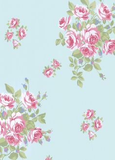 Blue Floral Background Vintage