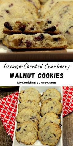 I personally love chewy cookies and this Orange-Scented Cranberry Walnut Cookies was a perfect kind for my taste. The original recipe has eggs in them, but I substituted the eggs with sour cream and it worked great. #cookies #walnutcookies #cranberrycookies #mycookinjourney @mycookinjourney | mycookingjourney.com Delicious Cookie Recipes, Best Dessert Recipes, Yummy Cookies, Amazing Recipes, Easy Desserts, Real Food Recipes, Delicious Desserts, Yummy Food, How To Make A Cookie Recipe