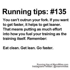 100+ Running Tips: No. 135: Eat right to run... #running #runtips #fitness… - Fitness is life, fitness is BAE! <3 Tap the pin now to discover 3D Print Fitness Leggings from super hero leggings, gym leggings, fitness, leggings, and more that will make you scream YASS!!!