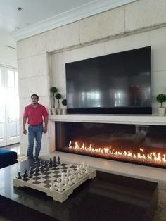 Acucraft will design and manufacture the perfect custom linear gas fireplace for your space. Contact us to start building your linear gas fireplace today. Tv Above Fireplace, Linear Fireplace, Brick Fireplace Makeover, Home Fireplace, Modern Fireplace, Fireplace Surrounds, Gas Fireplaces, Classy Living Room, My Living Room