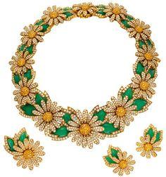 Elizabeth Taylor's Diamond Daisy Jewelry Set
