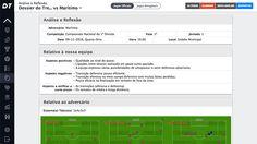 Na ficha de Análise e Reflexão o Treinador tem uma importante ferramenta de análise de jogo podendo fazer sugestões para o trabalho a realizar a curto prazo.
