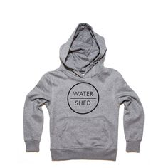 CHILDREN'S WATERSHED LOGO HOODED TOP GREY