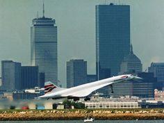British Airways : Concorde à Boston Logan