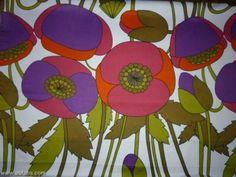 70s vintage poppy fabric
