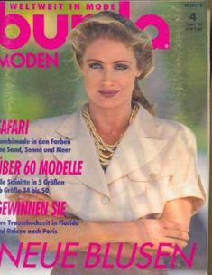 Журнал Burda Moden 1993 4 Get Dressed, Women's Fashion, Magazine, Sewing, My Style, Dresses, Fashion Women, Dressmaking, Couture