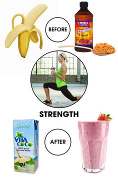 """Before: Strenght training is taxing on the body—and thus requires fueling up. """"Half a banana or a tablespoon of almond butter will give you a boost of energy that won't weigh you down,"""" advises Snyder."""