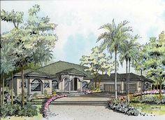 Florida House Plan chp-37017 at COOLhouseplans.com