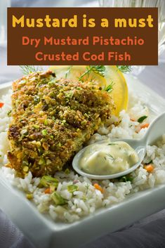 Serve this fish with fresh coleslaw and mashed new potatoes seasoned with butter, whole grain mustard, salt and pepper to make it a meal. Rub Recipes, Great Recipes, Cooking Recipes, Main Dishes, Side Dishes, Fresh Bread Crumbs, Cod Fish, Dry Mustard, Coleslaw