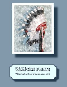 Watercolor wall art native american Instant by WeddingsBabiesHome