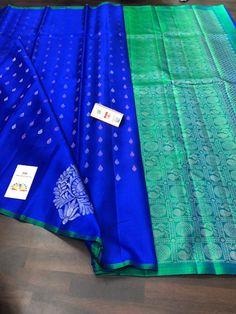 Banarsi Saree, Silk Saree Kanchipuram, Beautiful Saree, Beautiful Roses, Kerala Saree Blouse Designs, Peacock Embroidery Designs, Wedding Silk Saree, Saree Trends, Saree Models