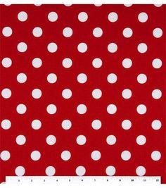 Hicks - Keepsake Calico Fabric-Large Dots On LipstickKeepsake Calico Fabric-Large Dots On Lipstick,