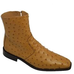 Calzoleria Toscana 1625 Lt.Cognac Ostrich Chelsea Boot