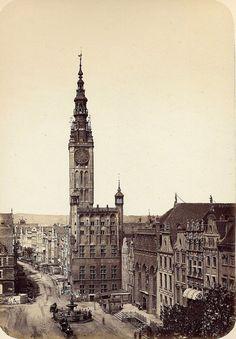 Albert Ballerstaedt: Danzig / Gdańsk, Rechtstädtisches Rathaus (Ratusz Głównego Miasta), ca. Danzig, Germany And Prussia, Gdansk Poland, Vintage Architecture, City Landscape, Old Buildings, Krakow, Historical Photos, Old Town