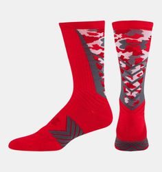 Shop Under Armour for Men's UA Undeniable Camo Crew Socks in our Mens High Socks