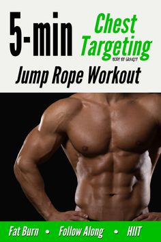 Looking to target your chest in a short pushup workout. Try this 5-minute chest jump rope circuit. Your chest will feel it the whole circuit! Push Up Workout, Jump Rope Workout, Bodyweight Strength Training, Calisthenics, Hiit, Body Weight, Fat Burning, At Home Workouts, Circuit