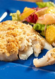 Herb & Garlic Fish — Fish fillets are brushed with a creamy homemade herbed sauce, then broiled and drizzled with lemon juice.