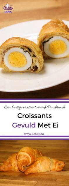 Deze croissants gevuld met ei, parma ham en kaas zijn een heerlijke lekkernij voor het ontbijt of brunch in het weekend. Een lekker brunch idee voor Pasen!