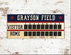 Your place to buy and sell all things handmade Vintage Baseball Party, Baseball Birthday Party, Vintage Party, Basketball Nursery, Football Nursery, Baseball Party Supplies, Football Scoreboard, Backdrops For Parties, Party Signs