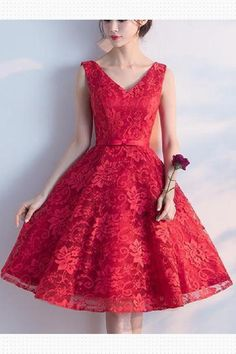 Prom Dresses 2019, Homecoming Dress V-neck, Homecoming Dress Short, Prom Dresses A-Line, V Neck Prom Dresses, Red Homecoming Dress #PromDresses2019 #HomecomingDressVneck #HomecomingDressShort #PromDressesALine #VNeckPromDresses #RedHomecomingDress