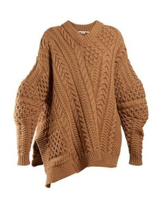 Open Waves Sweater Rose Loose Sweater Off Shoulder Sweater Chunky Knit Oversized Sweater