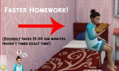 Sims 4 Updates: SimsWorkshop - Mods / Traits : Faster Homework 2.0 by Simstopics, Custom Content Download!