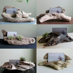 Our driftwood business card holders are each uniquely beautiful ❤ www.driftingconcepts.com